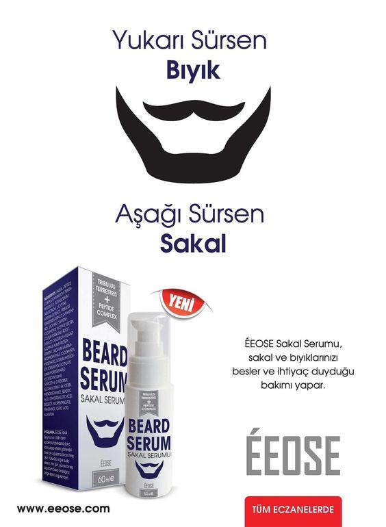 Farmagazin :sakal ve bıyık bakımı için ÉEOSE sakal ve bıyık serumu