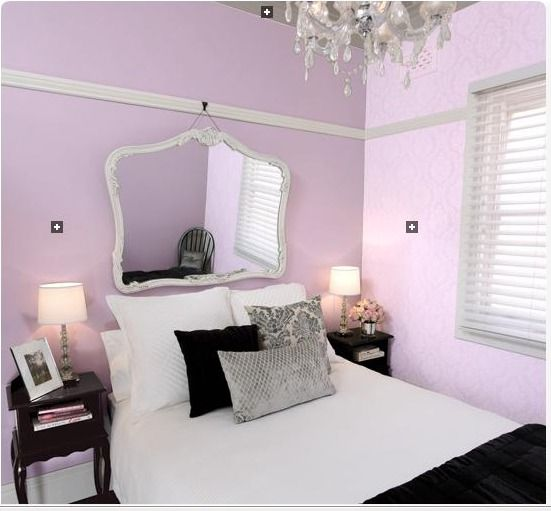 Black White And Lilac Bedrooms