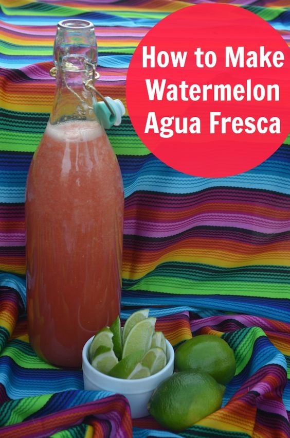 Watermelon agua fresca is a quick beverage that's easy to make in large batches. Plus, it's full of healthy watermelon! #recipe #watermelon
