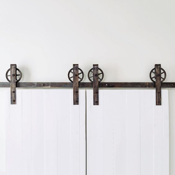 Double doors industrial and doors on pinterest - Double rail coulissant ...