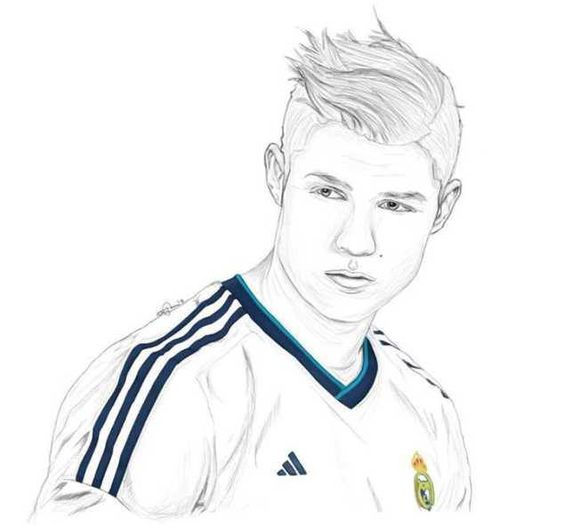 soccer coloring pages ronaldo hair - photo#22