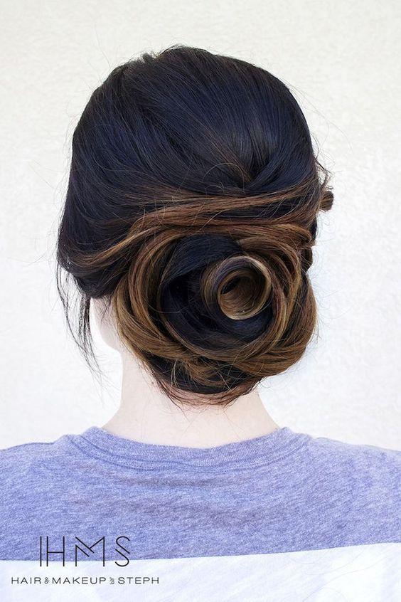 wedding updo hairstyle via Hair and Makeup by Steph 5 - Deer Pearl Flowers / http://www.deerpearlflowers.com/wedding-hairstyle-inspiration/wedding-updo-hairstyle-via-hair-and-makeup-by-steph-5/