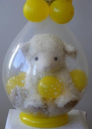Decoracion con globos para baby shower de ni o - Decoracion con bombas para baby shower ...