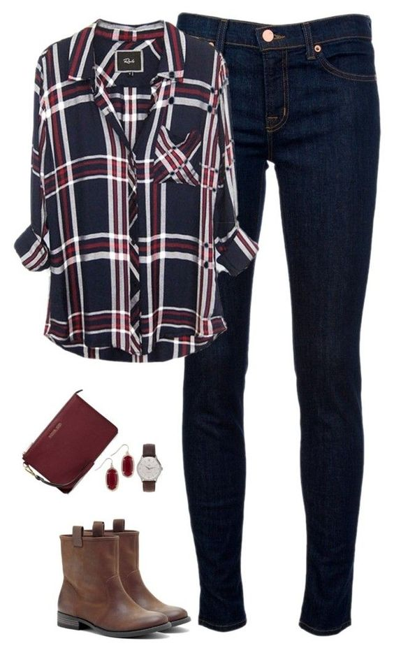"""Deep red & navy"" by steffiestaffie ❤ liked on Polyvore featuring J Brand, Sole Society, J.Crew, Kendra Scott and MICHAEL Michael Kors"