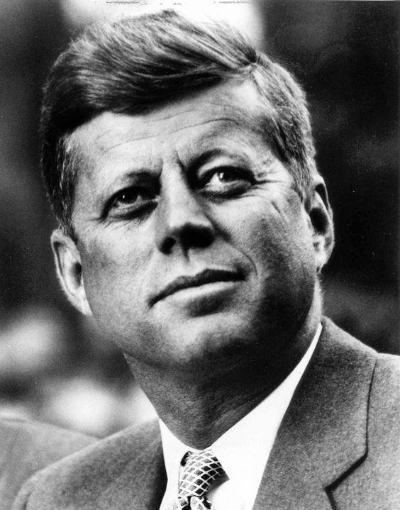 """""""Do not pray for easy lives. Pray to be stronger men."""" - John Fitzgerald """"Jack"""" Kennedy  (1917–1963):"""