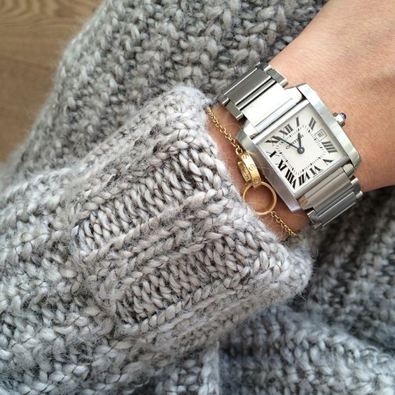 Chunky Sweater & Cartier Love