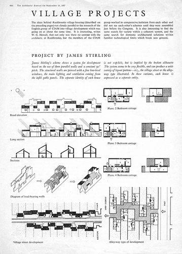 English CIAM Group, Village Housing, 1955, 1956.