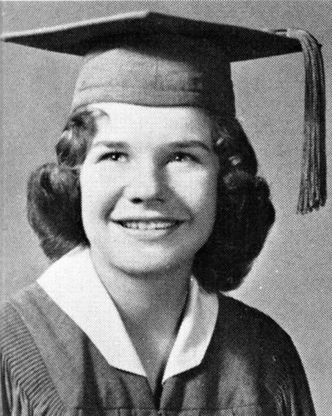 janis joplin high school graduation photo, 1960