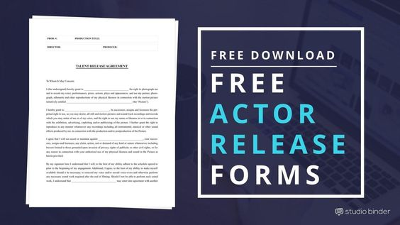 Download Free Actor Release Form Template Filmmaking, Free films - sample actor release form