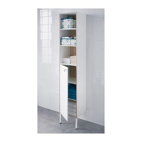 TYNGEN High Cabinet, White, Ash Effect | Ash, Vanities And Cabinets - Bathroom Storage Cabinet Ikea - Rukinet.com