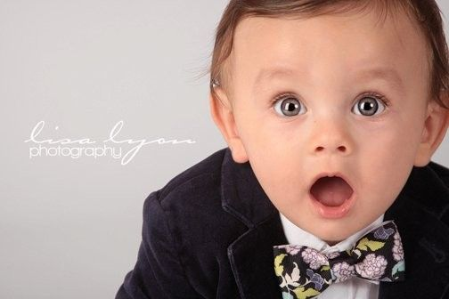 How cute his he in his little bow tie from Ella's Bows?!? Listing for 2 BoW TiEs foR YoUr Baby BoY.........CHOOSE YOUR FAVORITE color or print