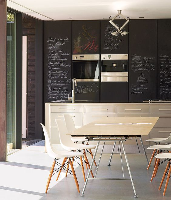 Fronted Cabinets Provide An Ideal Surface For Scrawling Shopping
