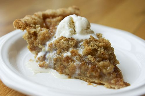 Apple Crumble Pie.  On a mission to recreate Mom's Apple Pie of Julian, CA.
