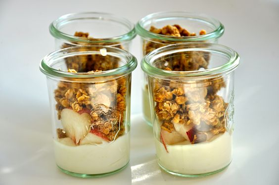 birchermusli breakfast yoghurt homemade