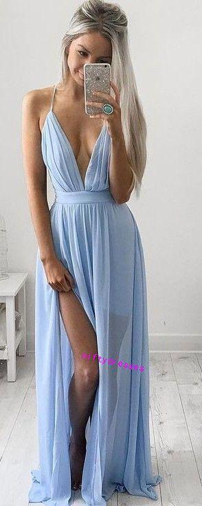 LJ9 New Arrival Deep V Neck Prom Dress,Charming