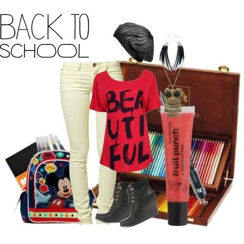 back to school outfits   Back to School Outfit - Polyvore   We Heart It