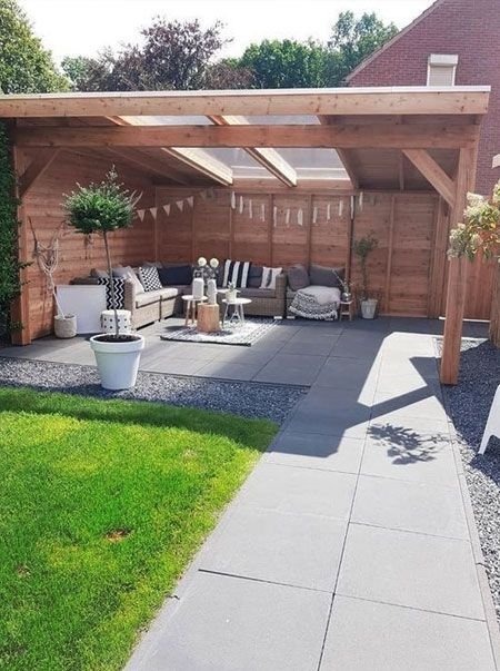 Easier Than Pouring A Concrete Slab But Not As Cheap Is Buying Concrete Pavers T Backyard Landscaping Designs Backyard Patio Designs Small Backyard Landscaping
