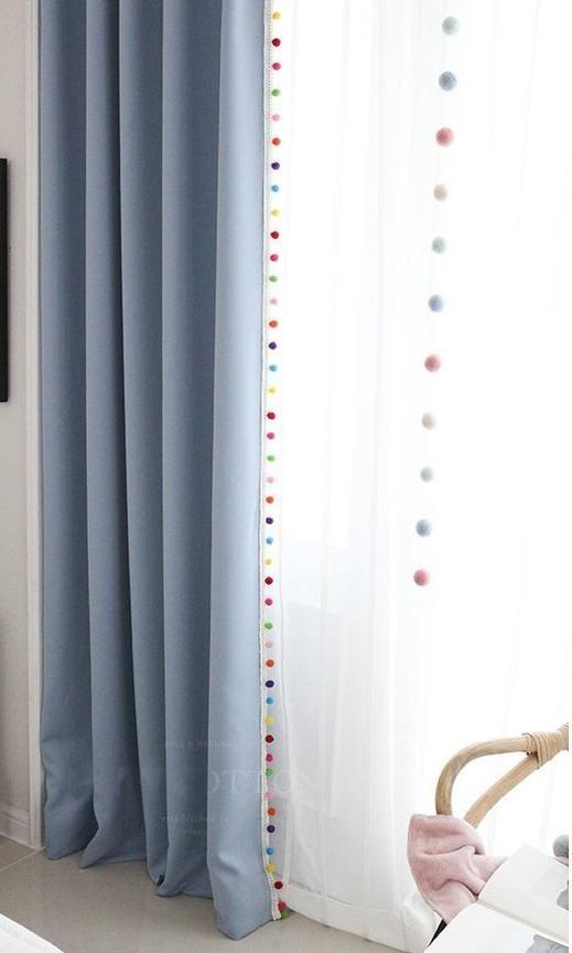Pom Pom Trim For Curtains Pom Pom Curtains Curtains Curtain Trim