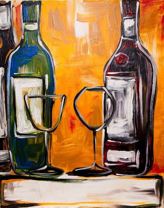Bottle the o 39 jays and events on pinterest for Easy wine bottle painting ideas