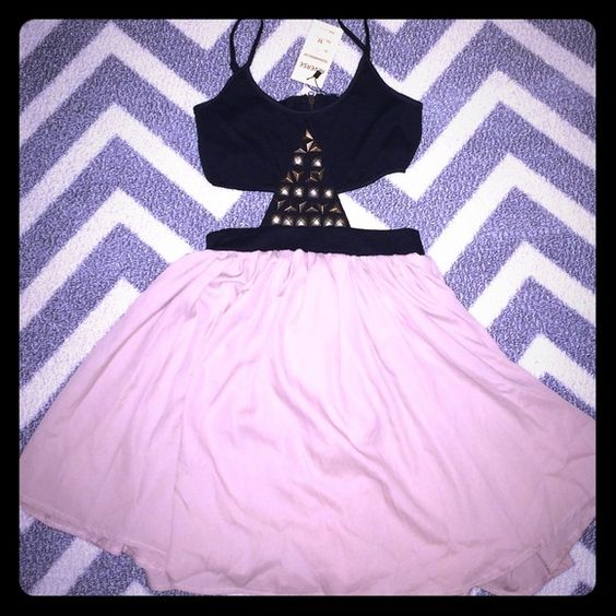 Cutout Studded Dress New Brand new tags attached size M. brand is Reverse. Nasty Gal Dresses Mini