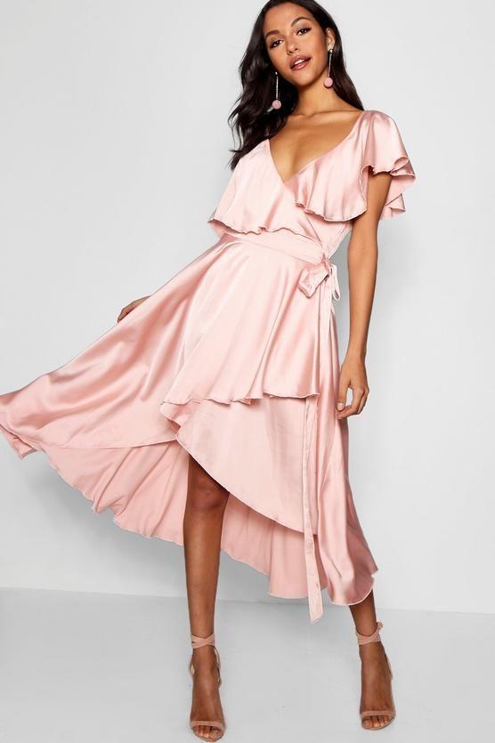 16++ Boohoo pink skater dress trends