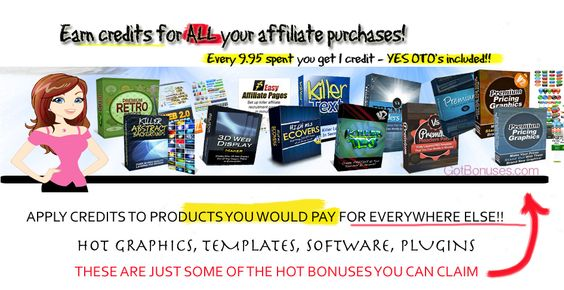 My All new bonus program! When you follow my referrals you can pick and choose your bonuses ;) http://gotbonuses.com