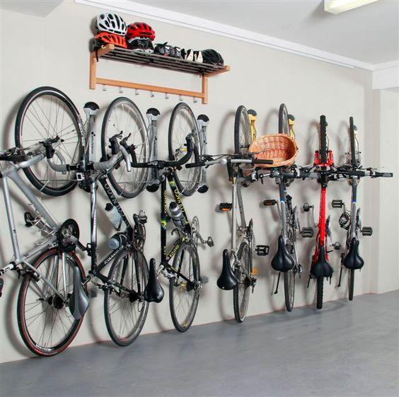 Bike Storage Ideas Steel bike Hanger Wooden Wall Shelves