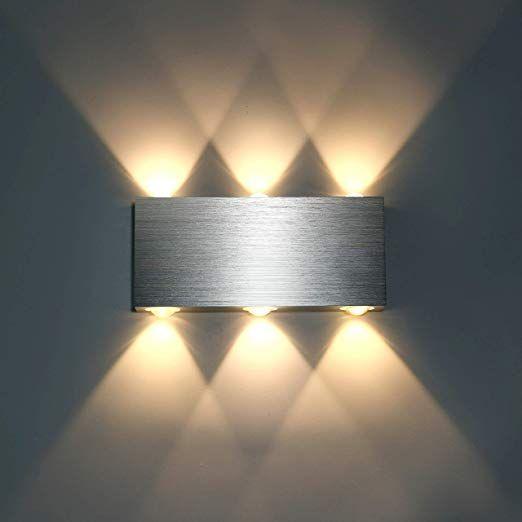 Lightess 6w Wandlampe Led Wandleuchte Innen Modern Up Down Aus