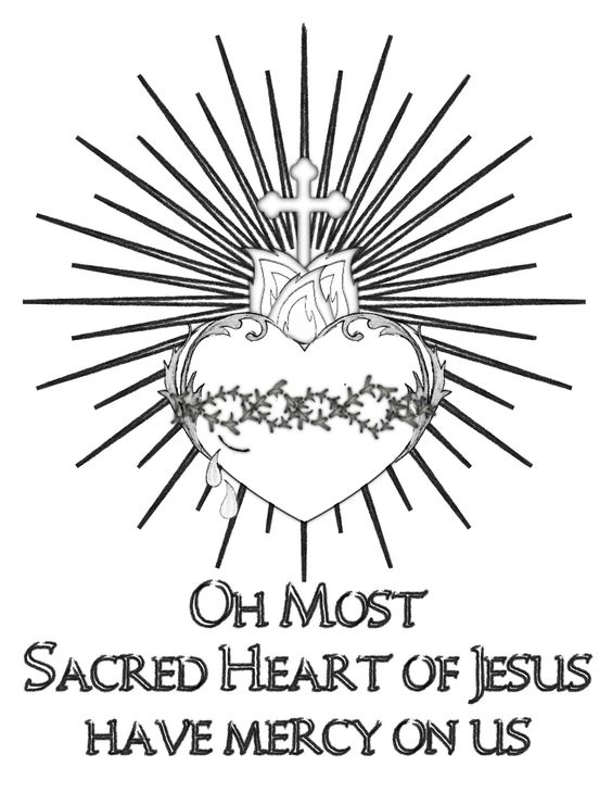 heart and jesus coloring pages - photo#24
