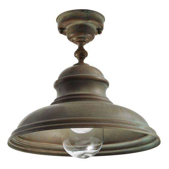 Tuscanor - Brass Porch Flush Light - TUS1593