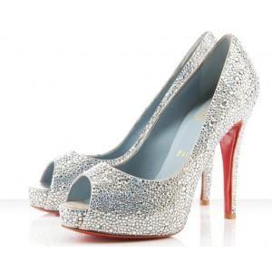 louboutin silver wedding shoes