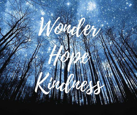Wonder hope kindness words