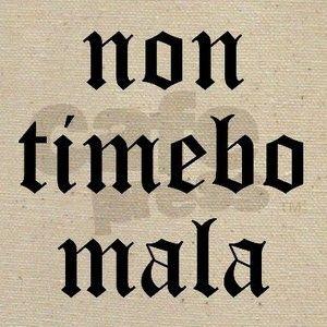 Non timebo mala (I will fear no evil)