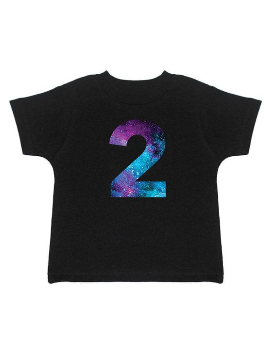 Outer Space Birthday  2nd Birthday Shirt  Galaxy Birthday by Umbuh