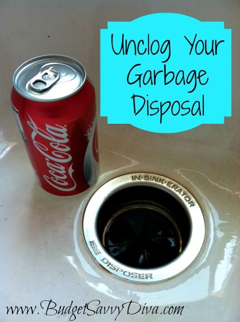how to unclog your garbage disposal budget tips pinterest toilets sodas and drinking. Black Bedroom Furniture Sets. Home Design Ideas