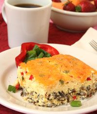 Got bell peppers you need to use up? Add them to this recipe for Wild Rice and Egg squares. Perfect for Saturday brunch!