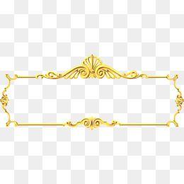 Gold Glyph Border Golden Frame Carved Pattern Png Transparent Clipart Image And Psd File For Free Download Frame Border Design Banner Clip Art Fashion Poster Design