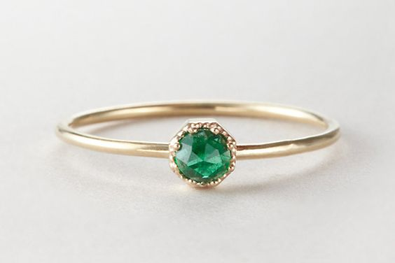 33 Quirky Engagement Rings For Alt Brides #refinery29  http://www.refinery29.com/61572#slide24
