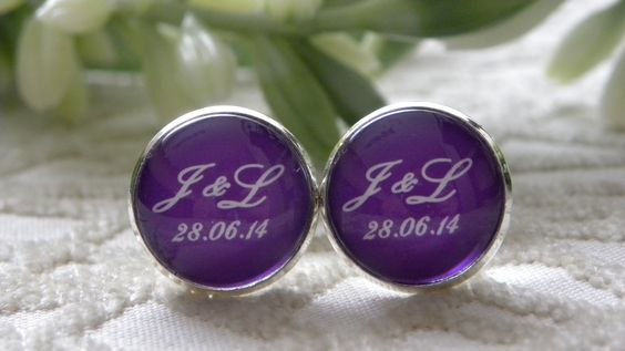 Custom cufflinks groom - wedding Gemelos de novio personalizados - boda @Scraparizate