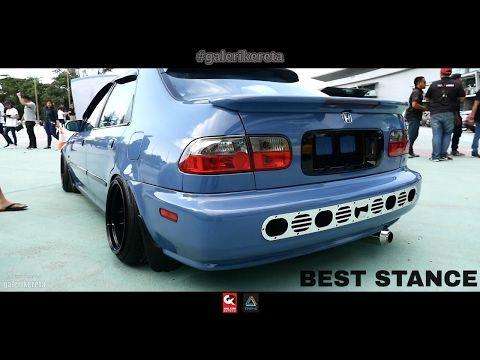 Honda Civic Eg Four Door Stance Borneo Kustom Show 2017 Youtube Civic Eg Honda Civic Civic Car