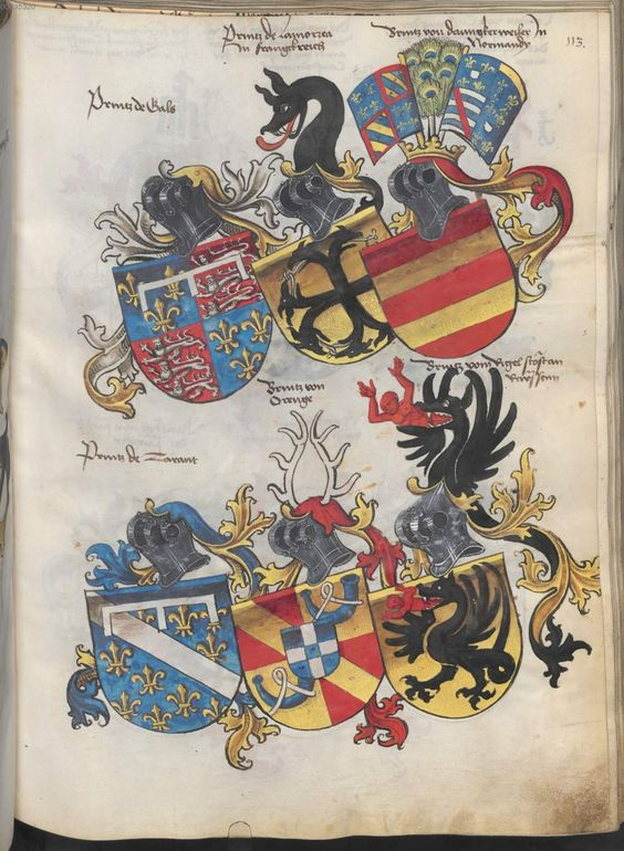 Grünenberg, Konrad: Das Wappenbuch Conrads von Grünenberg, Ritters und Bürgers zu Constanz um 1480 Cgm 145 Folio 118