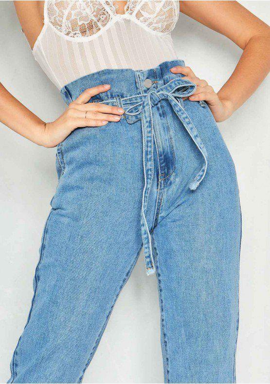 Lucy Denim High Waist Paperbag Jeans High Wasted Jeans High Waisted Denim Clothes
