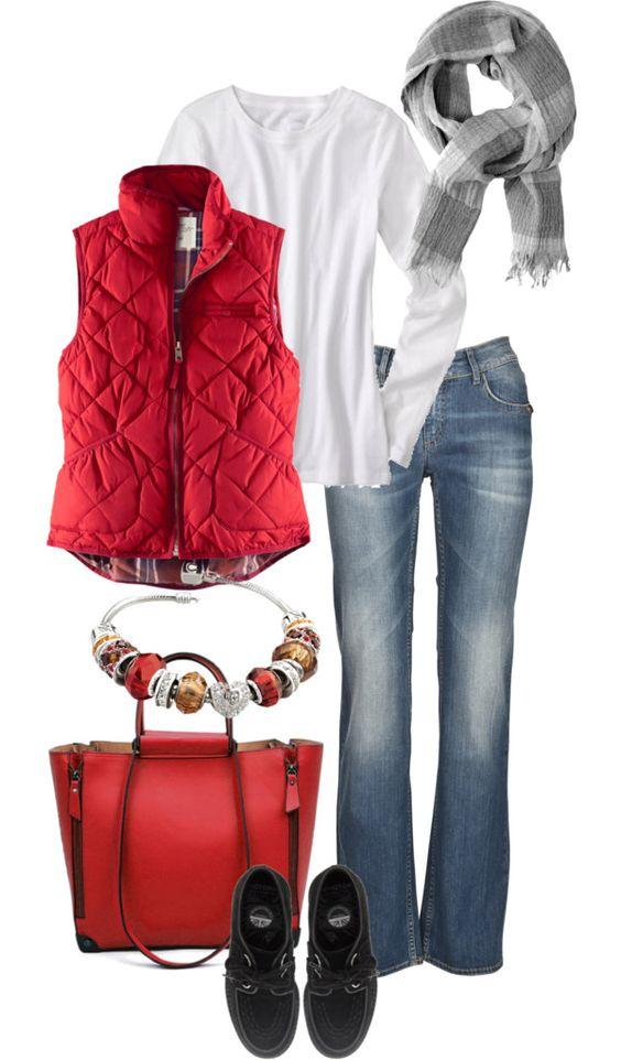 """""""Denim & Red"""" by simple-wardrobe on Polyvore"""