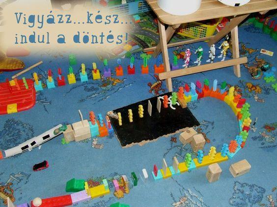 dominó pálya építés