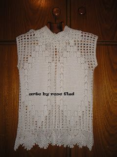 arte by rose flud: blusa de croche