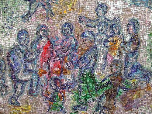 Marc chagall mosaic chicago marc chagall mosaic outdoor for Chagall mural chicago