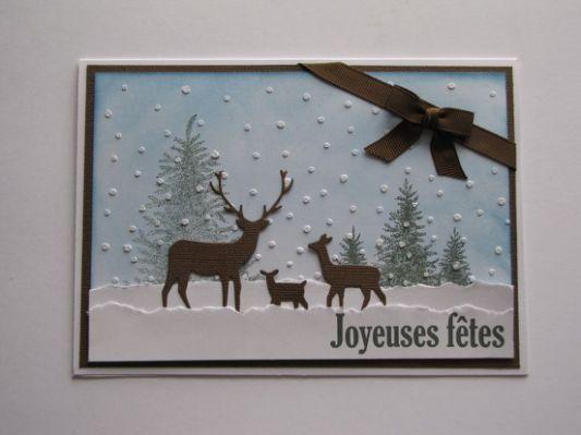 Scrapbooking, carte de Noël avec | Christmas cards handmade
