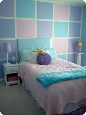 Pink And Blue Bedroom Brilliant Pink Blue Purple Girls Roomi Would Love To Do This For Emma . Design Decoration