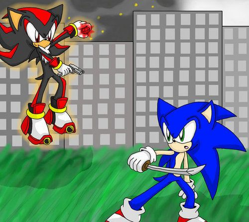 Shadow the Hedgehog with sword | guns vs swords - sonic ...