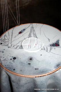 Detail of Stilled by Caroline Bartlett at Cloth & Memory 2